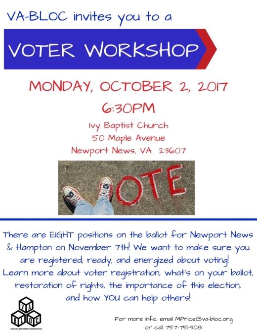 Voter Ed Presentation Oct 2 2017
