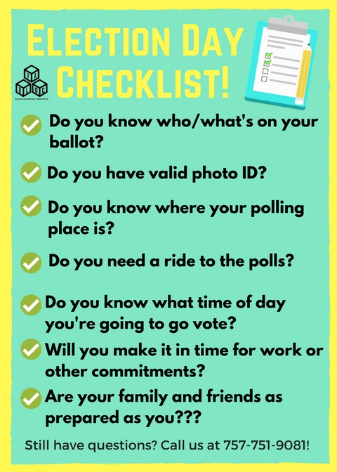 Election Day checklist
