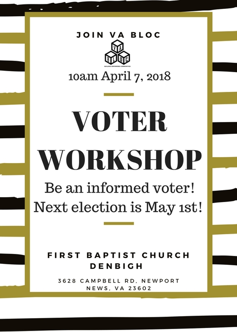 FBCD Voter Workshop April 7th