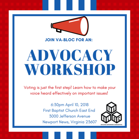 VA BLOC Advocacy Workshop 4.10